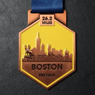 Boston- MyRace Virtual Marathon Majors - Virtual Race medal