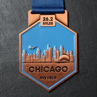 Chicago - MyRace Virtual Marathon Majors - Virtual Race medal