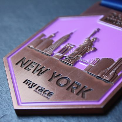 NY - MyRace Virtual Marathon Majors - Virtual Race medal