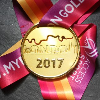London Gold - Virtual Race Medal